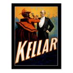 Kellar - mago - poster del teatro del vintage postales