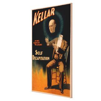 Kellar performing Self Decapitation Magic Canvas Print