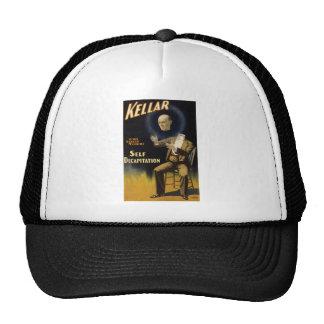 Kellar self decapitation trucker hat