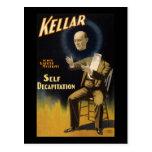 Kellar self decapitation postcard