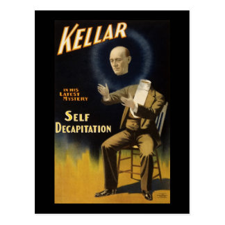 Kellar self decapitation postcard