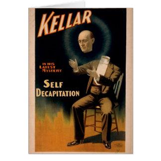 Kellar, 'Self Decapitation' Retro Theater Greeting Card