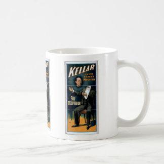 Kellar, 'Self Decapitation' Retro Theater Classic White Coffee Mug