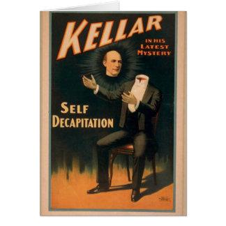 Kellar, 'Self Decapitation' Vintage Theater Greeting Card
