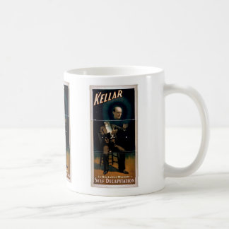 Kellar, 'Self Decapitation' Vintage Theater Classic White Coffee Mug