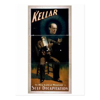 Kellar, 'Self Decapitation' Vintage Theater Postcard