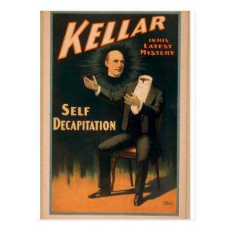 """Kellar, """"teatro del vintage de la degollación del  postales"""
