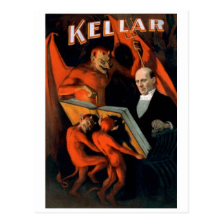 "Kellar - ""The Devil's Instructions"" Postcard"