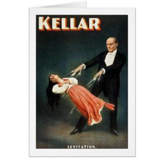 Kellar the Magician Levitation - Vintage Ad Card