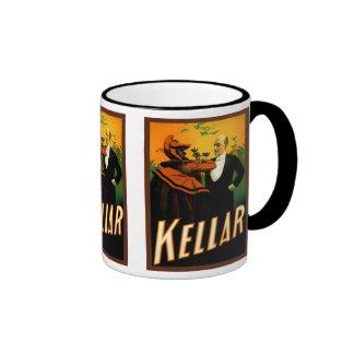 Kellar the Magician Ringer Coffee Mug