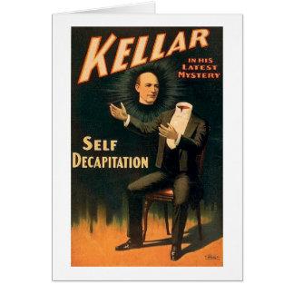 Kellar the Magician - Self Decapitation - Vintage Greeting Card