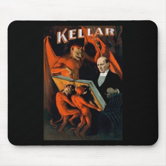 Kellar The Magician Vintage Magic Mouse Pad
