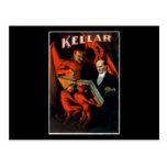 Kellar y sus criados tarjeta postal