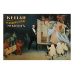 Kellar y sus misterios desconcertantes del gabinet impresiones