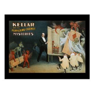 Kellar y sus misterios desconcertantes del tarjetas postales