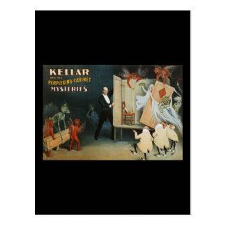 Kellar y sus misterios desconcertantes del postales