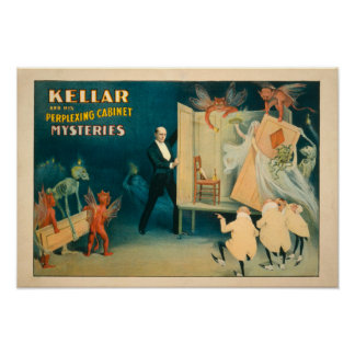 Kellar y sus unos de los reyes magos desconcertant póster