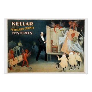 Kellar's Cabinets Vintage Theater Poster. Poster