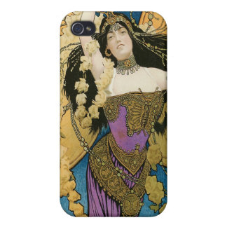 Kellar's ~ Golden Butterfly Vintage Magic Act iPhone 4/4S Case
