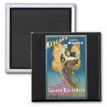 Kellar's ~ Golden Butterfly Vintage Magic Act Refrigerator Magnets