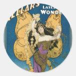Kellar's ~ Golden Butterfly Vintage Magic Act Stickers