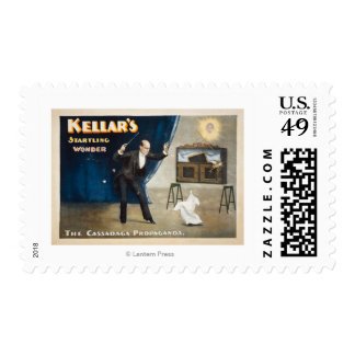 Kellar's Startling Wonder Magic Poster Postage