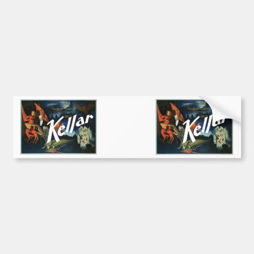 Kellar's ~ The Devil Vintage Magic Act Bumper Stickers