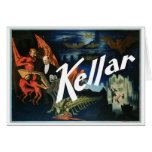 Kellar's ~ The Devil Vintage Magic Act Greeting Card