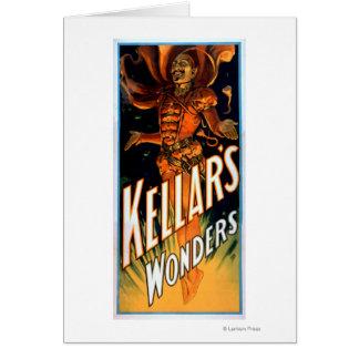 Kellar's Wonders Dressed like Devil Magic Greeting Cards