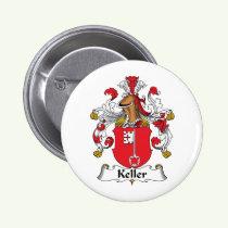 Keller Family Crest Button