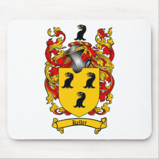KELLER FAMILY CREST -  KELLER COAT OF ARMS MOUSE PAD