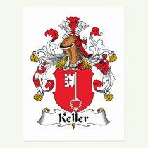 Keller Family Crest Postcard