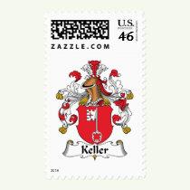 Keller Family Crest Stamps