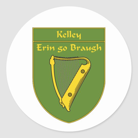 Kelley 1798  Flag Shield Classic Round Sticker
