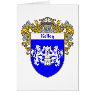 Kelley Coat of Arms (Mantled) Card