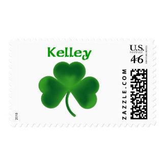 Kelley Shamrock Postage Stamps