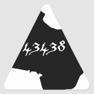 Kelleys Island 43438 Zip Code Triangle Sticker
