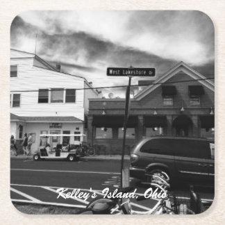 Kelley's Island, Ohio Street Photo Coasters