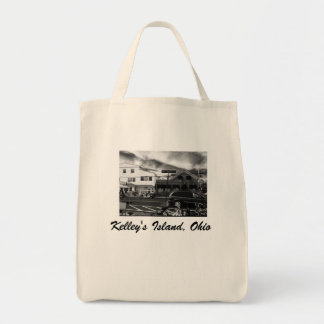 Kelley's Island, Ohio Street Photo Grocery Tote