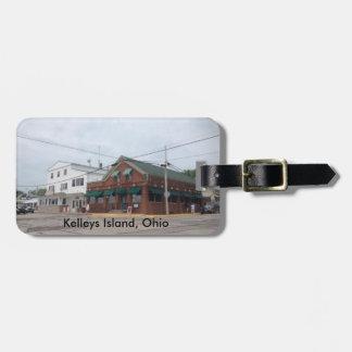 Kelleys Island, Ohio  village color photo Bag Tag