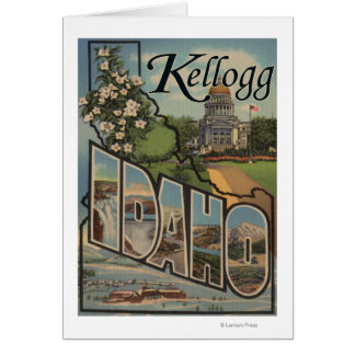 Kellogg, Idaho - Large Letter Scenes Card