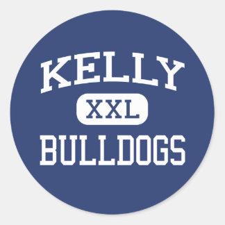 Kelly - Bulldogs - Catholic - Beaumont Texas Classic Round Sticker