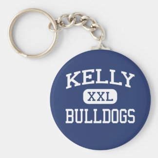 Kelly - Bulldogs - High School - Beaumont Texas Basic Round Button Keychain