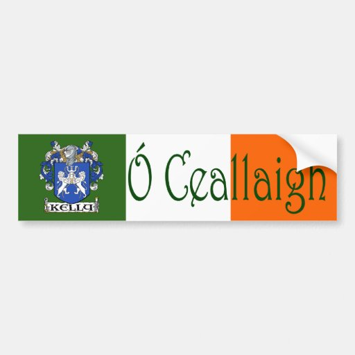 Kelly Clan Irish/English Bumper Sticker