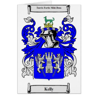 Kelly Coat of Arms Card