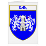 Kelly Coat of Arms/Family Crest Card