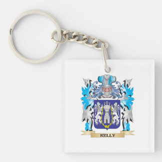 Kelly Coat of Arms - Family Crest Single-Sided Square Acrylic Keychain