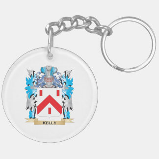 Kelly- Coat of Arms - Family Crest Double-Sided Round Acrylic Keychain