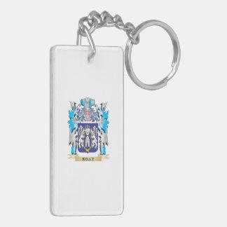 Kelly Coat of Arms - Family Crest Double-Sided Rectangular Acrylic Keychain