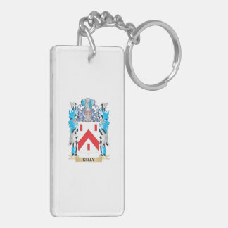 Kelly- Coat of Arms - Family Crest Double-Sided Rectangular Acrylic Keychain